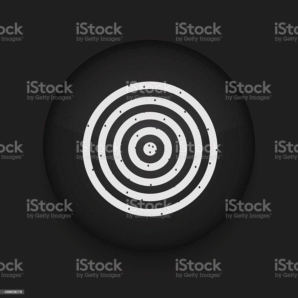 Vector darts icon. Eps10. Easy to edit royalty-free stock vector art