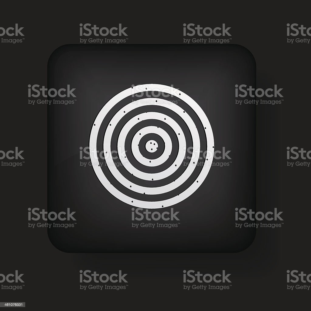Vector darts icon on black. Eps10 royalty-free vector darts icon on black eps10 stock vector art & more images of accuracy