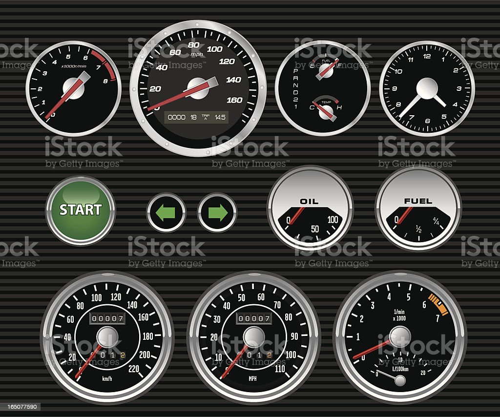 Vector Dashboard Dials royalty-free vector dashboard dials stock vector art & more images of beginnings