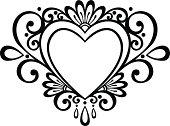 Vector Deco Floral Heart.