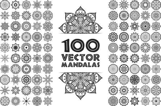 vector decorate mandala - indian stock illustrations, clip art, cartoons, & icons