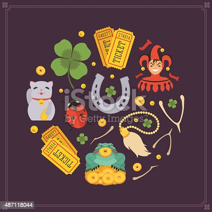 istock Vector decorating design made of Lucky Charms 487118044