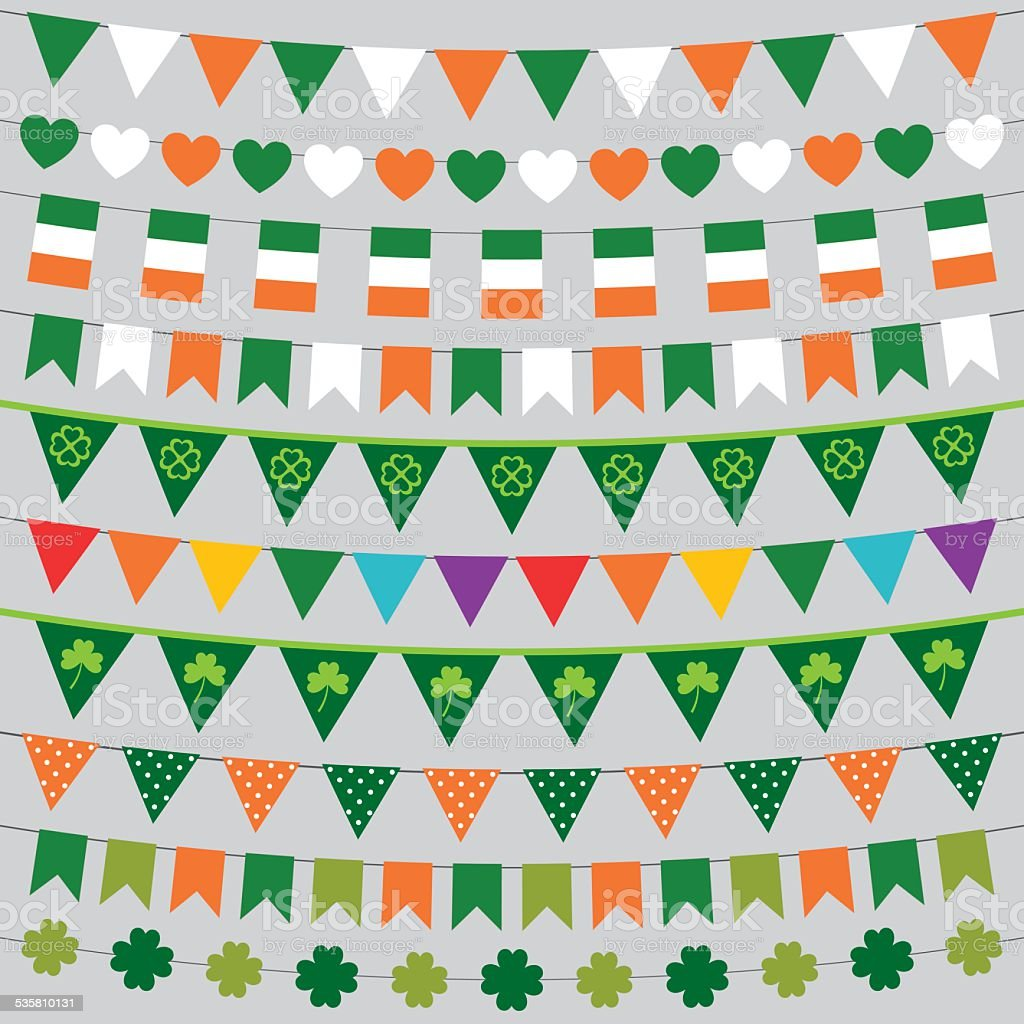Vector decoration set for St. Patrick's Day vector art illustration