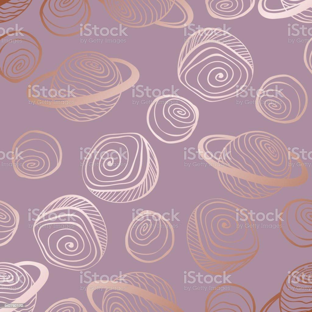 Rosegold Dekoration vektor dekorativer hintergrund mit imitation von rotgold roségold