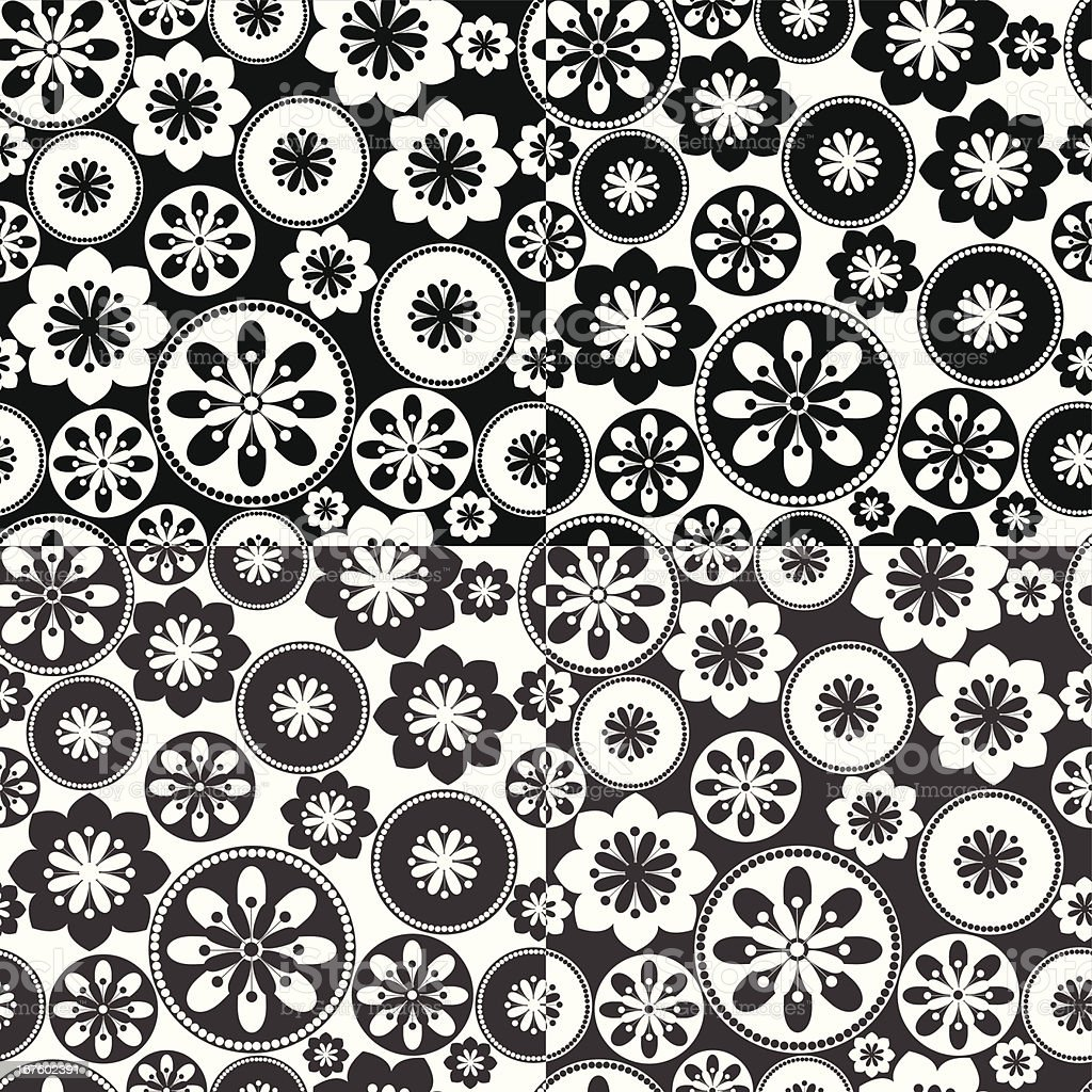 Vector decorative background with ornamental rosettes. royalty-free stock vector art