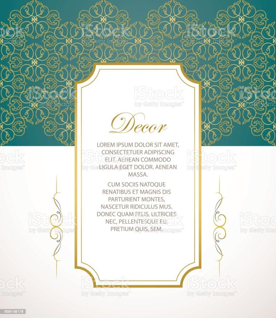 vector decorative frame elegant element for design template