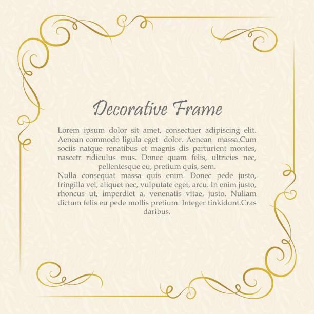 Vector cadre décoratif. Éléments de modèle de conception élégante. - Illustration vectorielle