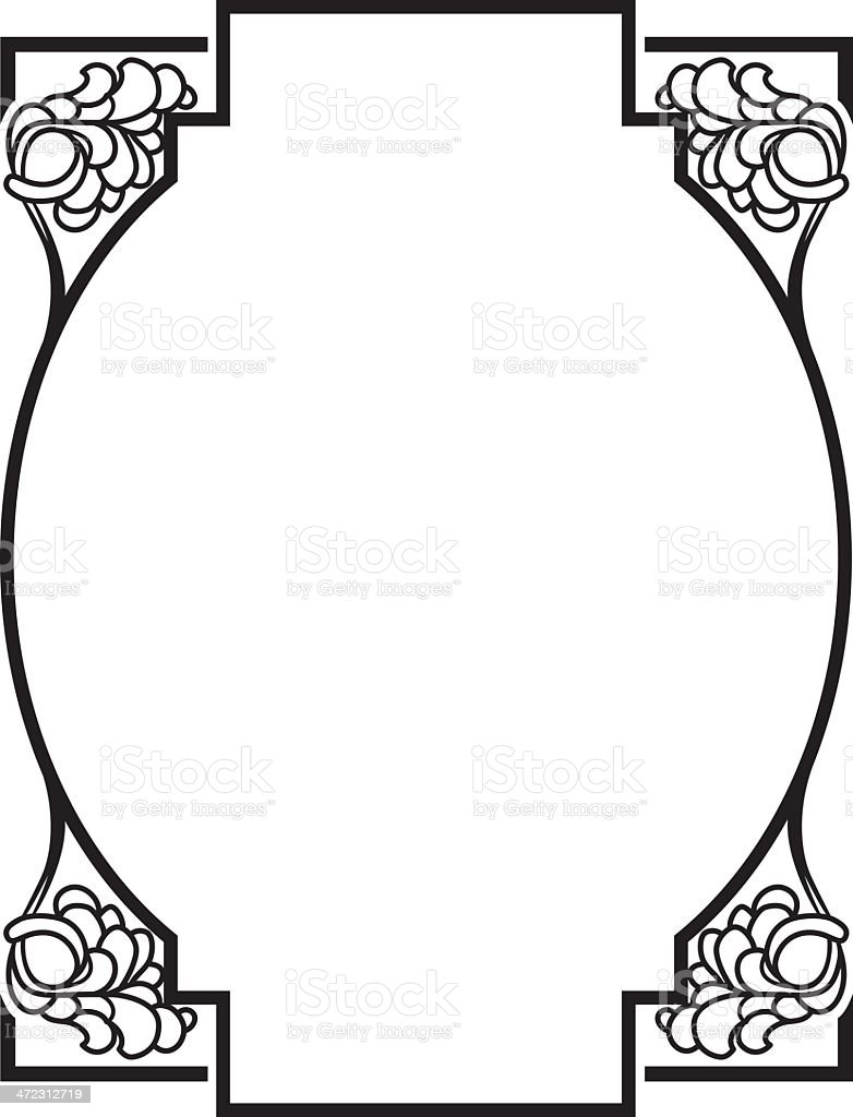 Vector Decorative Frame royalty-free vector decorative frame stock vector art & more images of art deco
