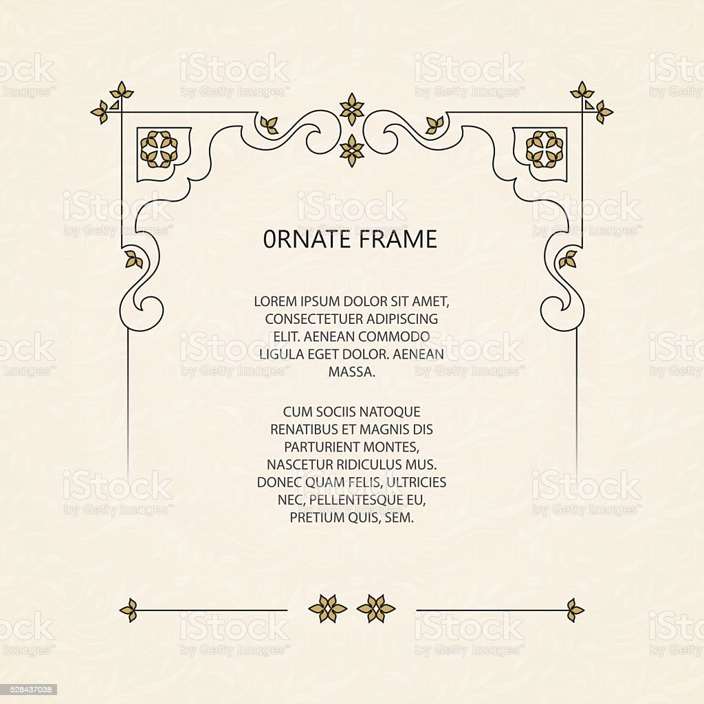 Vector decorative frame. vector art illustration