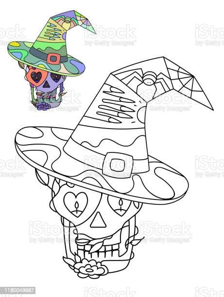 Vector decorative illustration for halloween coloring book for kids vector id1180049987?b=1&k=6&m=1180049987&s=612x612&h=tndgoiivuoajyc4ao6y2hlzythmuzu0iwf7tmqd7kqy=