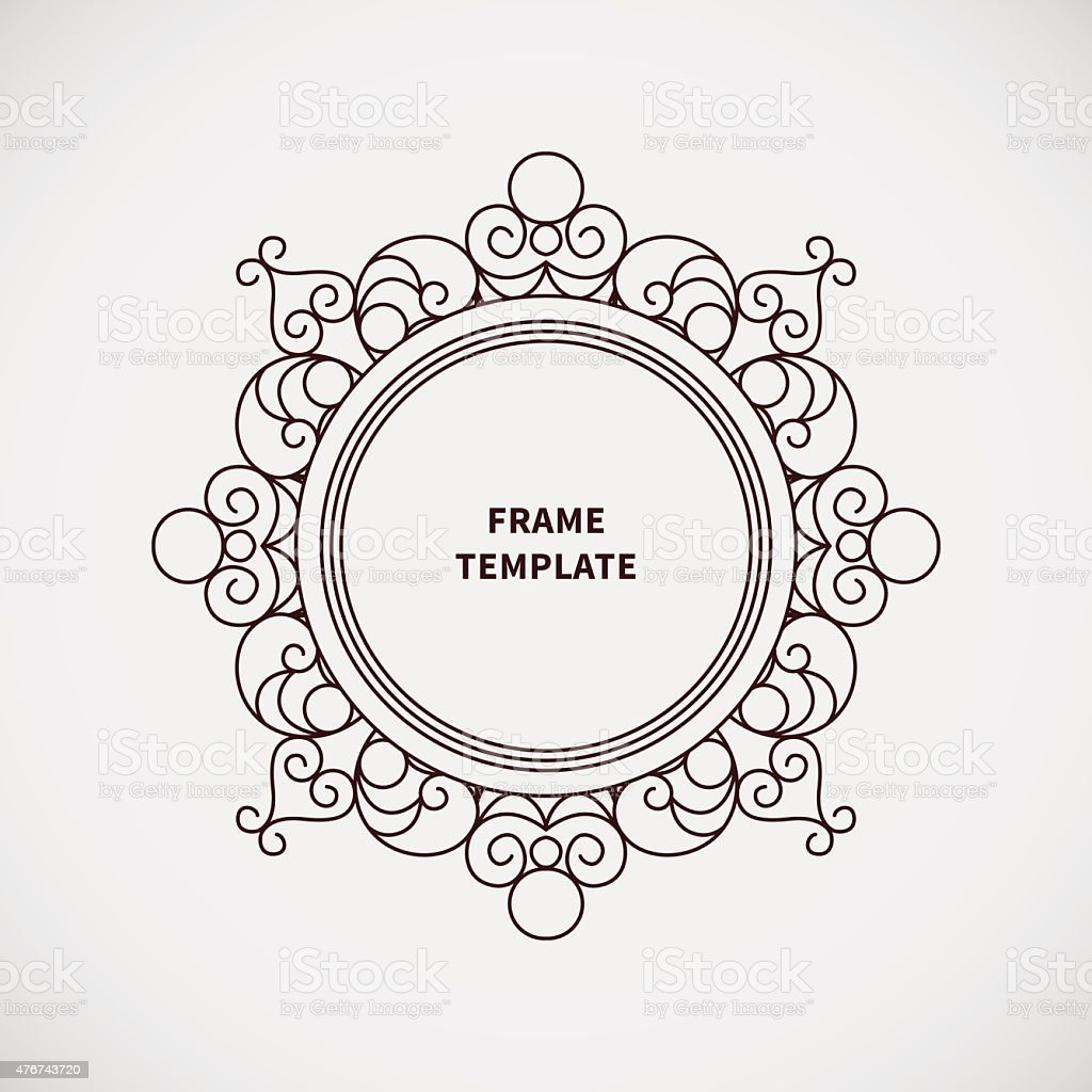 Vector Decorative Line Art Frame For Design Template ...