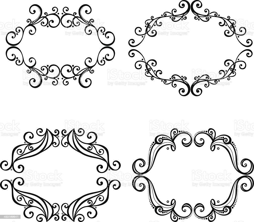 Vektor Dekorative Verzierten Rahmen Für Text Vektor Illustration ...