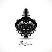 Vector Decorative Ornate Bottle of Perfume