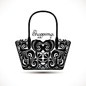 Vector Decorative Ornate Women's Bag