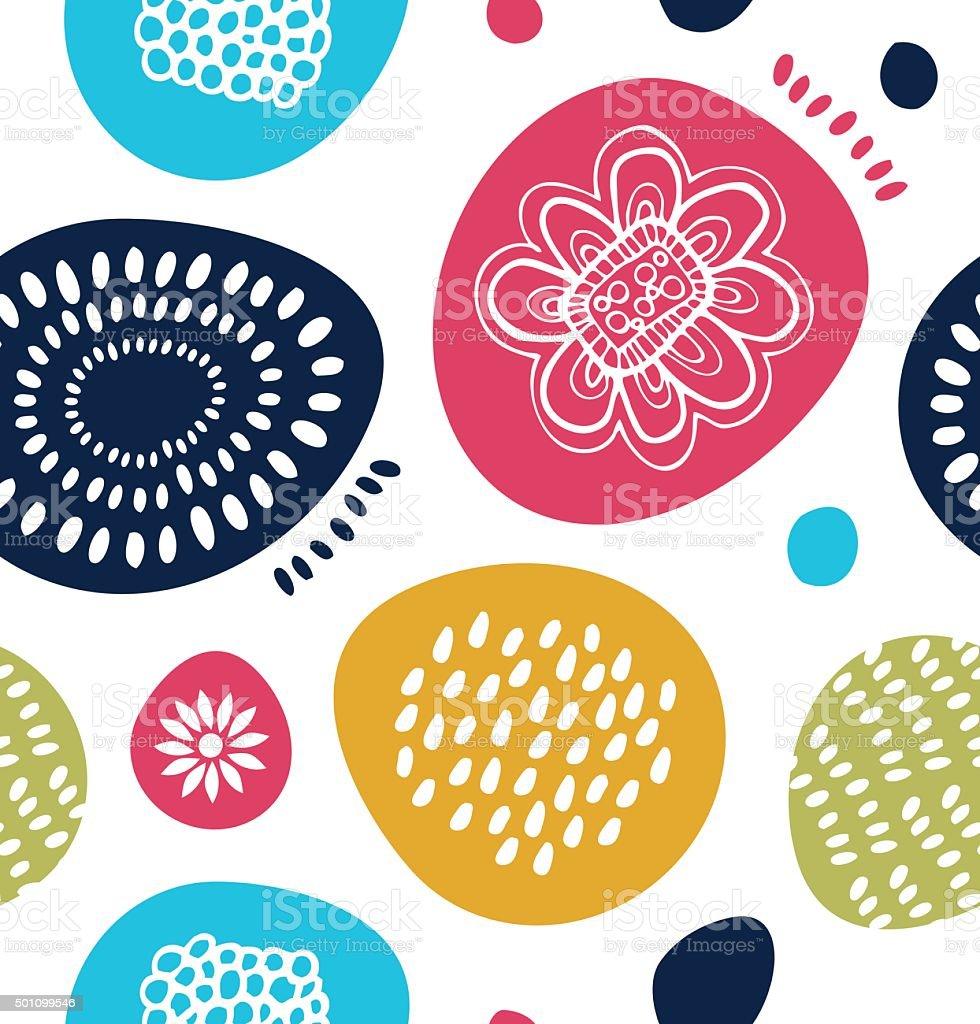 Vector decorative pattern in scandinavian style vector art illustration