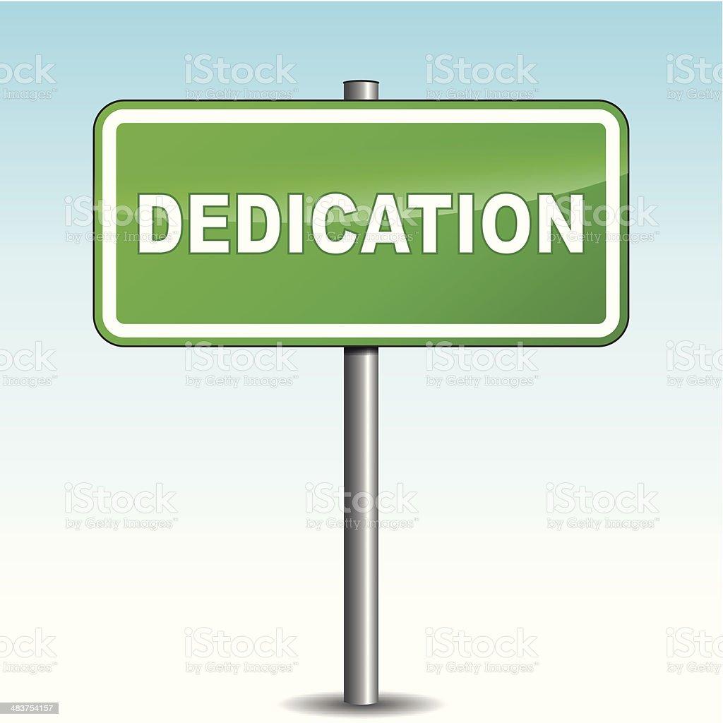 Vector dedication signpost vector art illustration