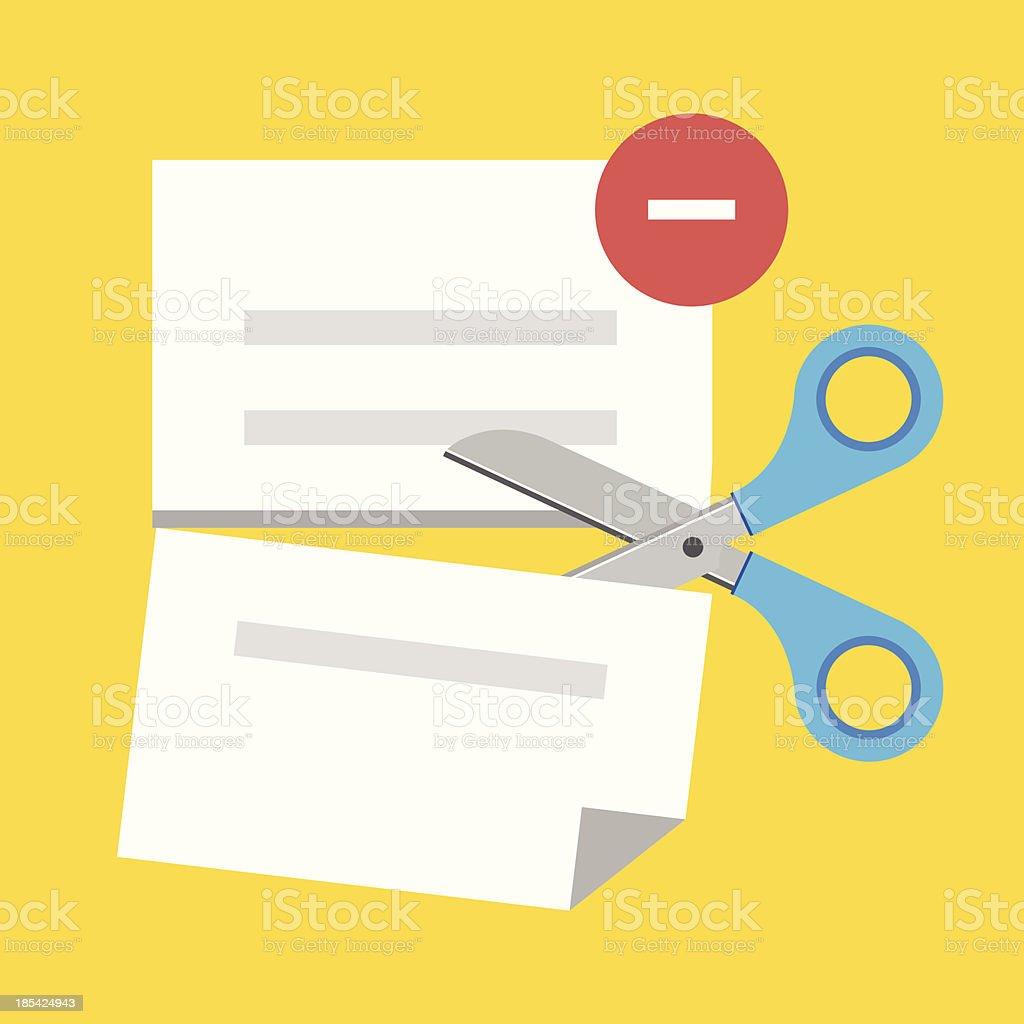 Vector Delete Document Icon royalty-free stock vector art
