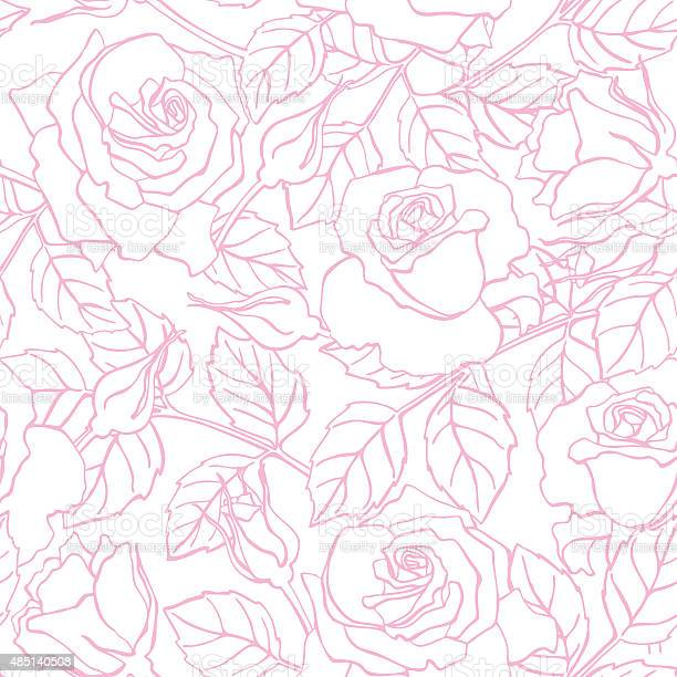 Vector delicate line rose pattern vector id485140508?b=1&k=6&m=485140508&s=612x612&h=cjqkxktal9nw9h ydbnjdpo6vluptarxvpy3yyi gd0=
