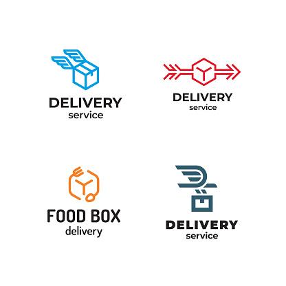 Vector Delivery Logo Design Set