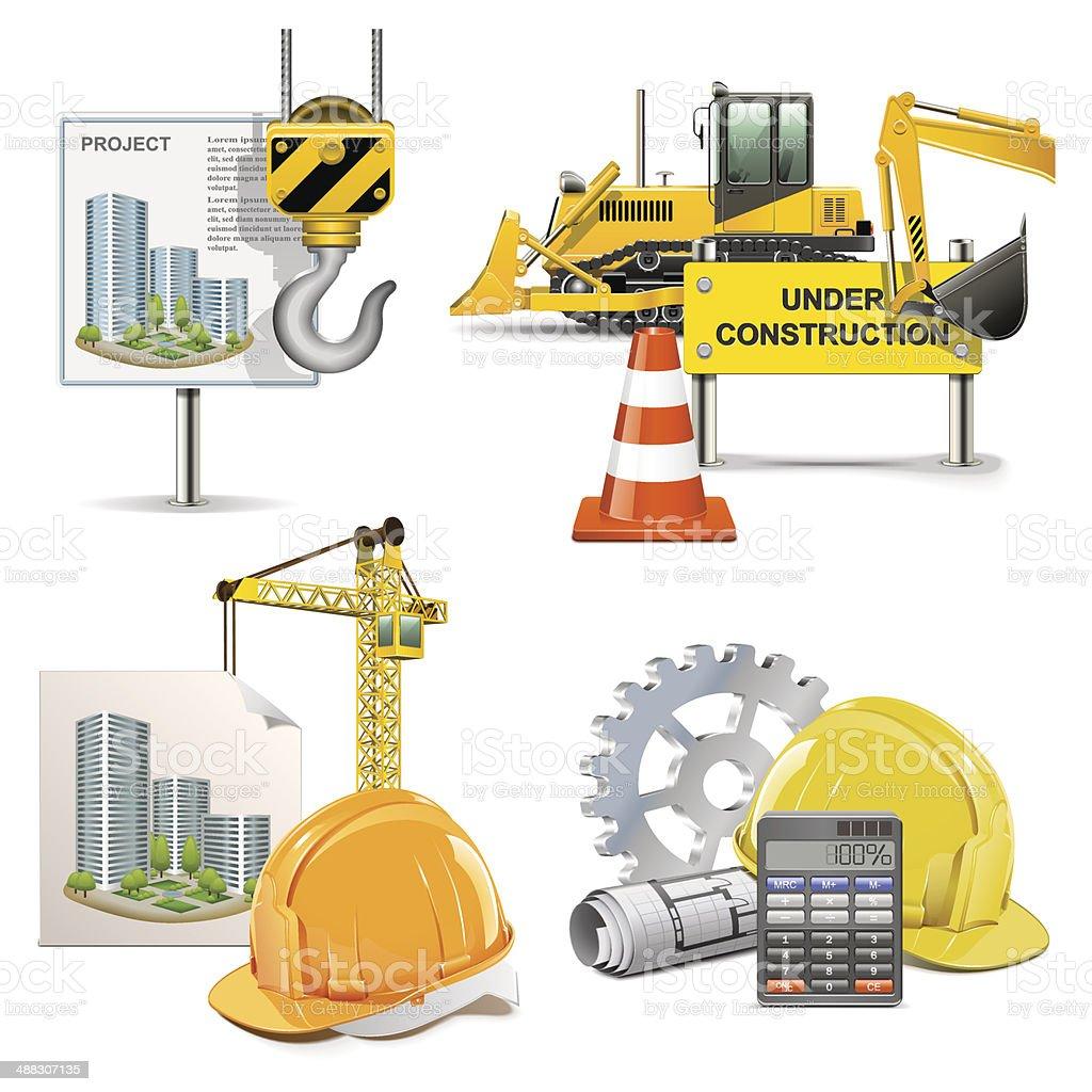 Vector Design and Construction vector art illustration