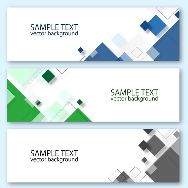 Vector design banner template Vector design banner template square composition stock illustrations
