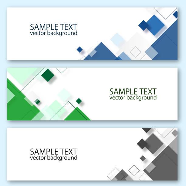 vektör tasarım banner şablonu - kare kompozisyon stock illustrations