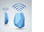 Vector Design beacon device home and office radar. Use for all situations