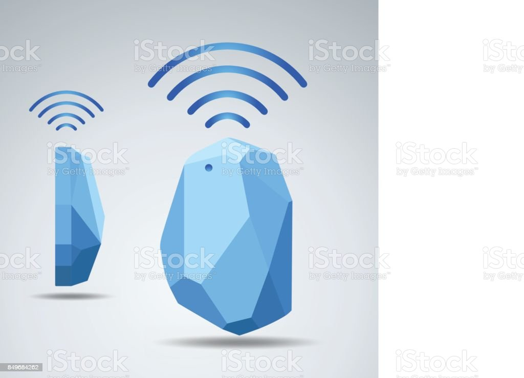 Vector Design beacon device home and office radar. Use for all situations vector art illustration