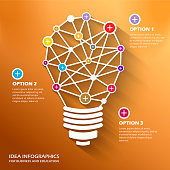 Vector design bulb template - can be used for website layout, business and education.