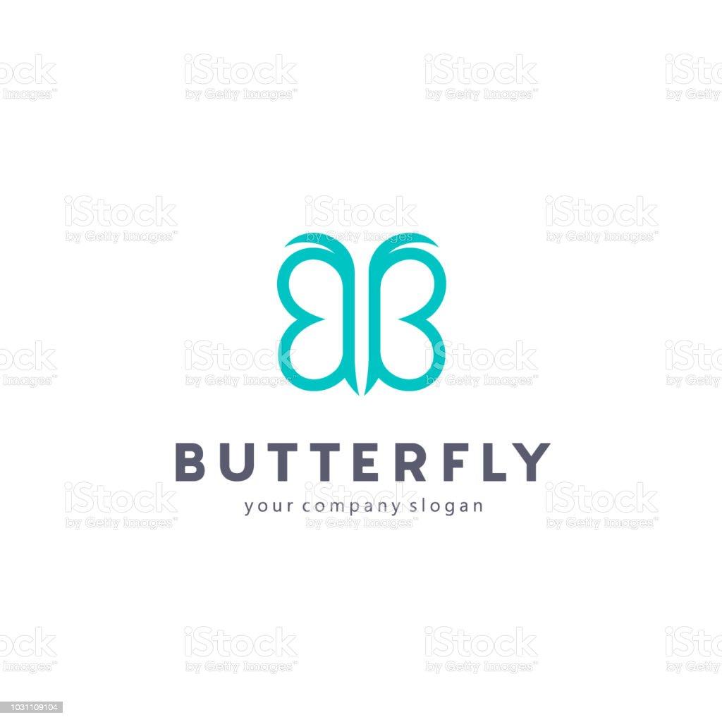 Vector design element. Butterfly sign vector art illustration