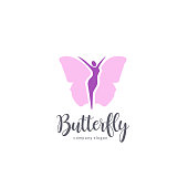 Vector design element. Butterfly sign