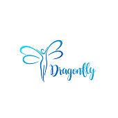 Vector design element. Dragonfly sign