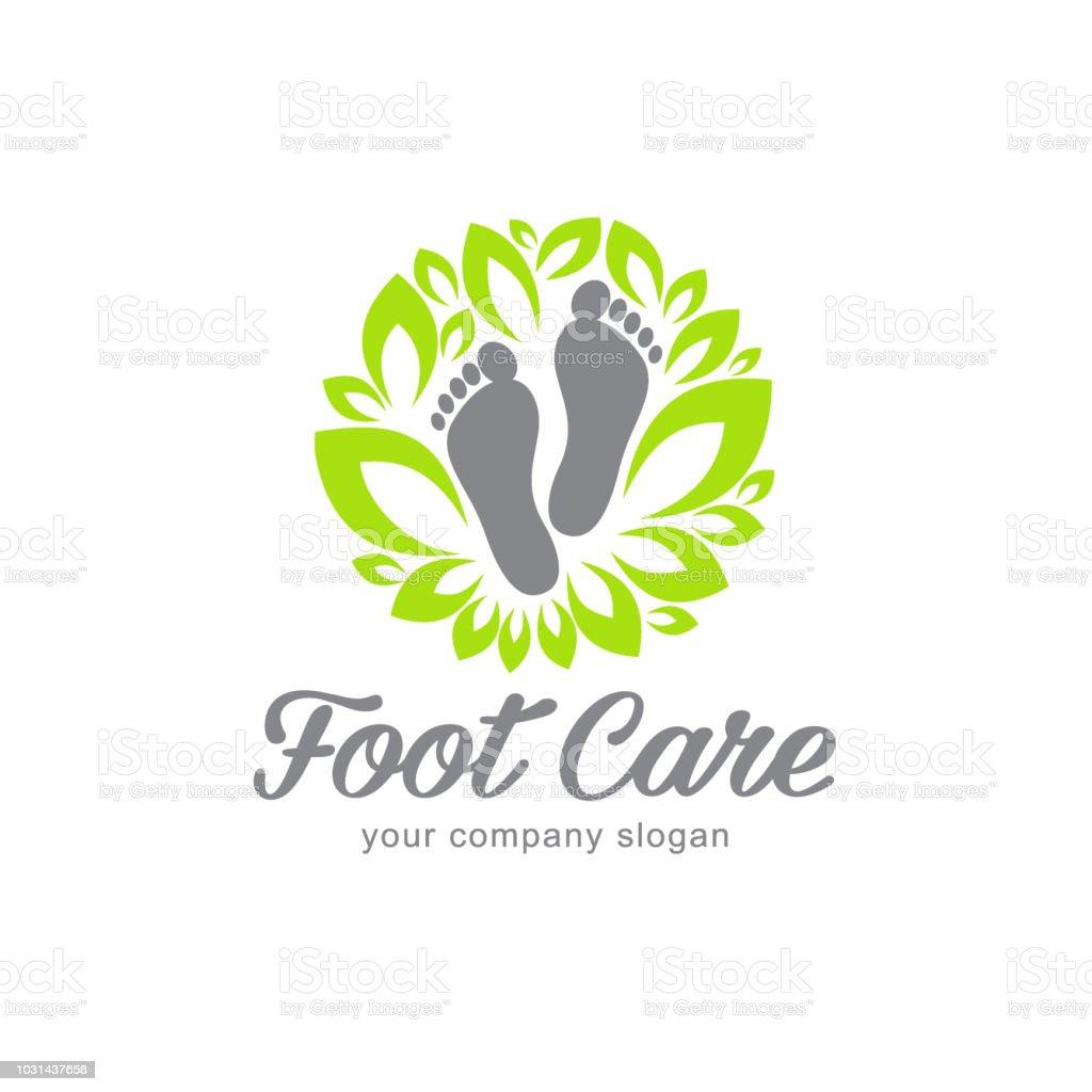 Vector design element. Foot care vector art illustration