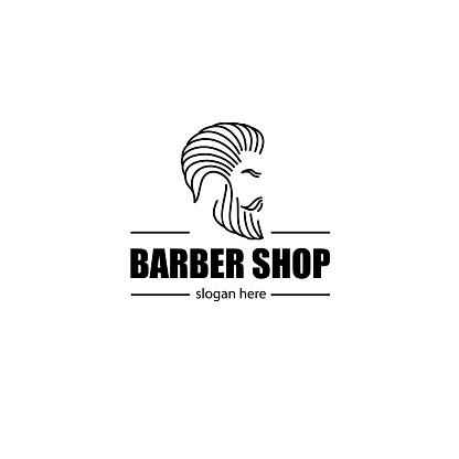 Vector design element for barber shop