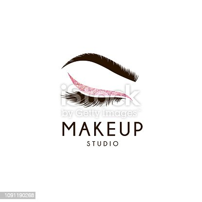 istock Vector design element for beauty salon. Lash and Brow 1091190268