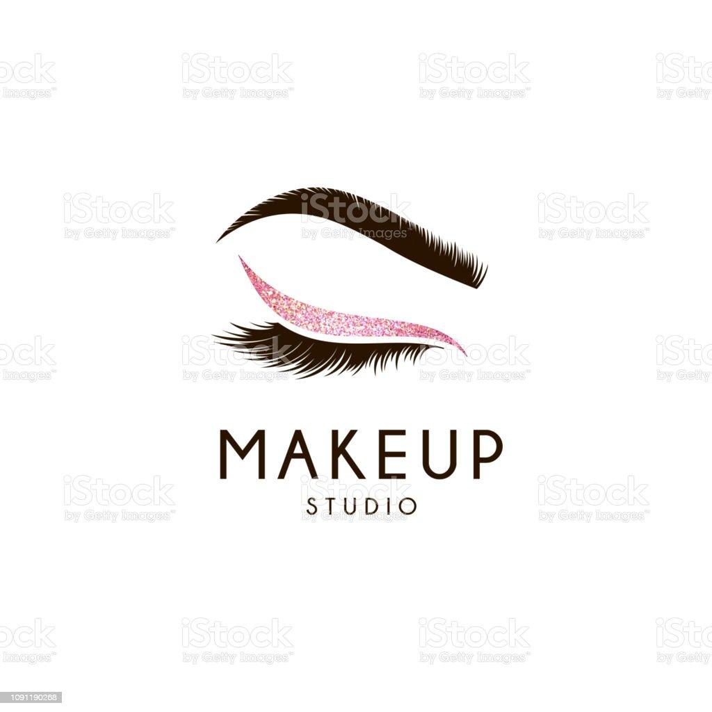 Vektor-Design-Element für Beauty-Salon. Wimpern und Augenbrauen – Vektorgrafik