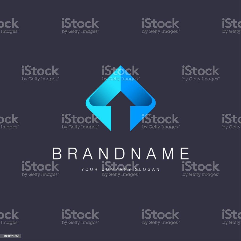 Vector design element for business. Arrow sign vector art illustration