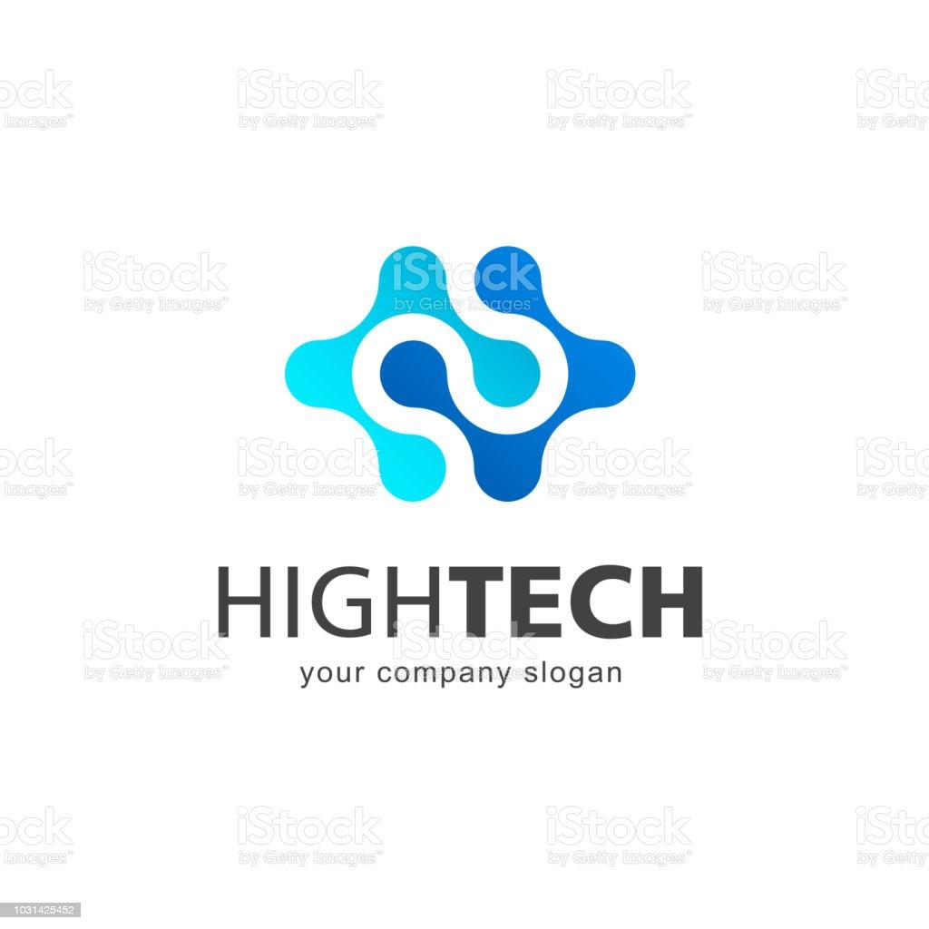 Vector design element for business. High Tech. Nanotechnology vector art illustration
