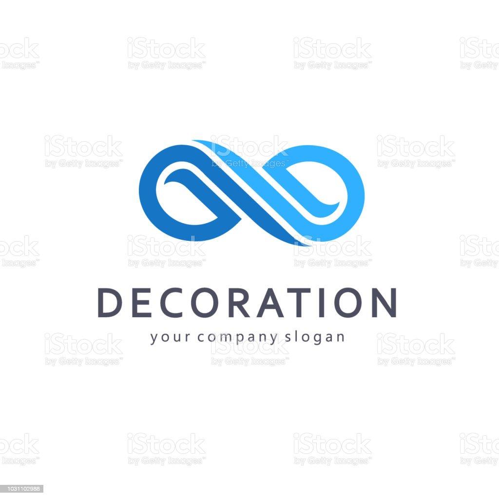 Vector design element for business. Infinity sign vector art illustration