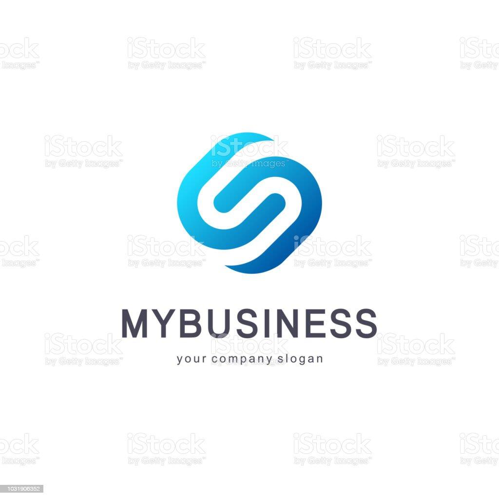 Vector design element for business. Letter S letter vector art illustration