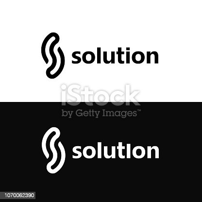 Vector design element for business. Letter S letter