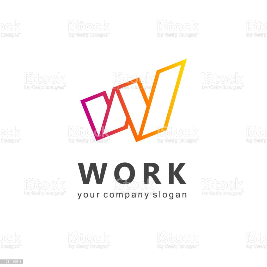 Vector design element for business. Letter W vector art illustration