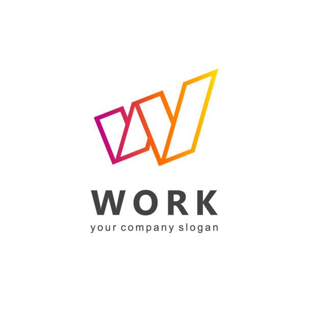 Vector design element for business. Letter W Vector design element for business. Letter W w logo stock illustrations