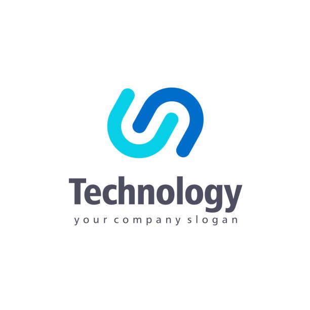 vector design element for business. tethnology sign - alphabet symbols stock illustrations