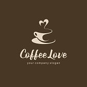 Vector design element for coffee shop