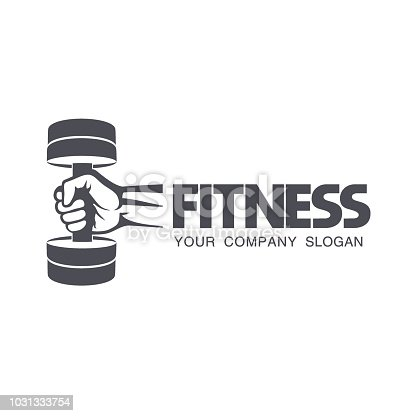 Vector design element for fitness club.