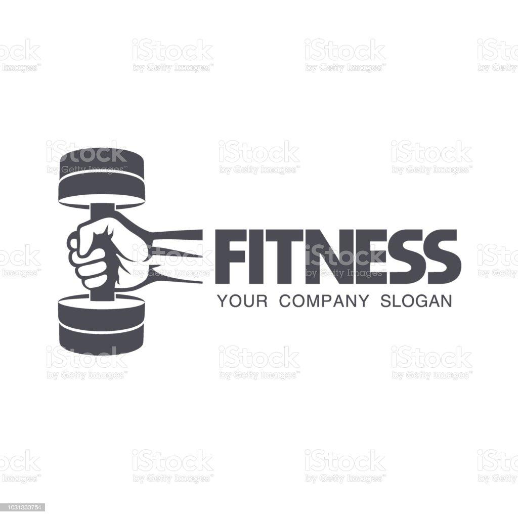 Vector design element for fitness club. vector art illustration