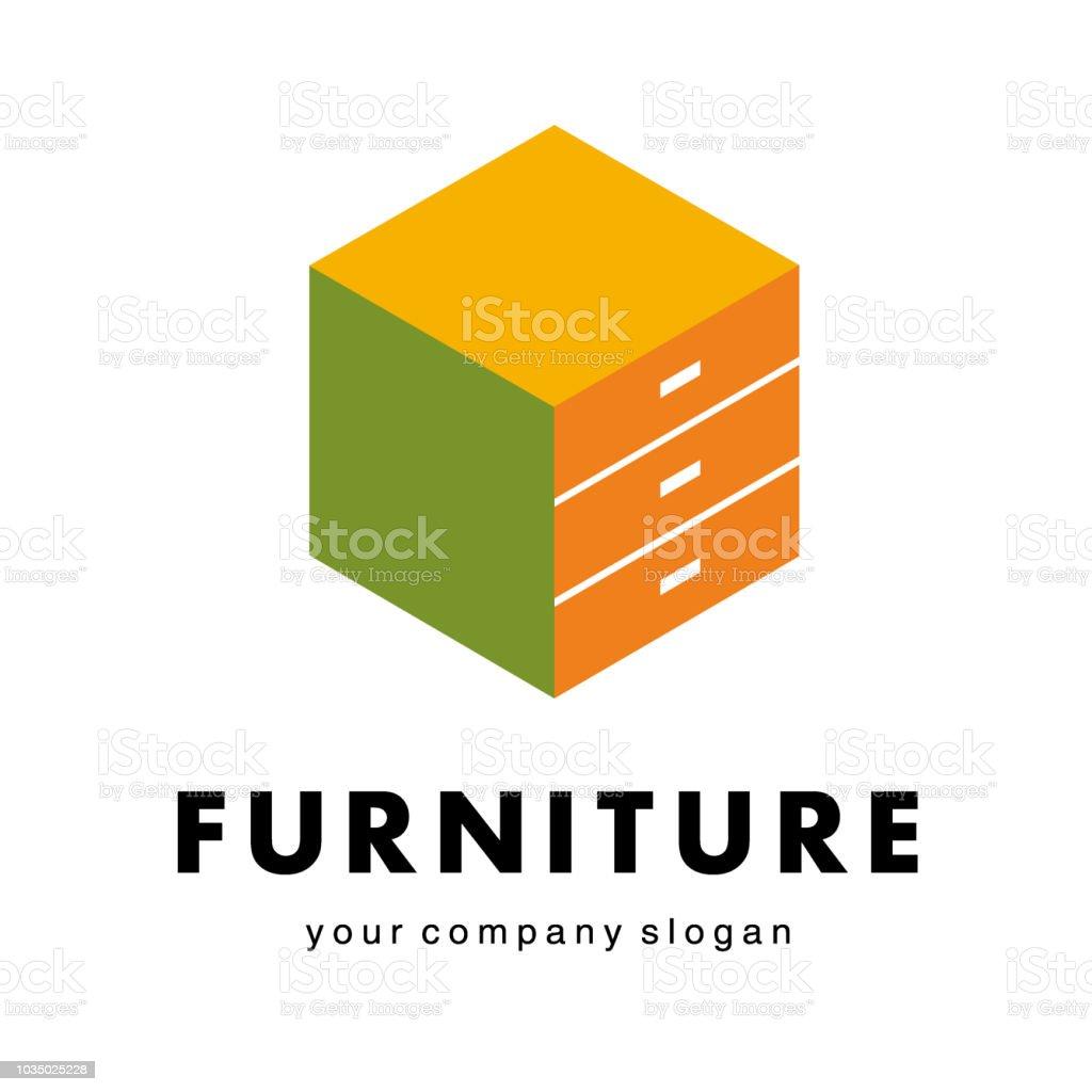 Vector design element for furniture companies, furniture shops vector art illustration