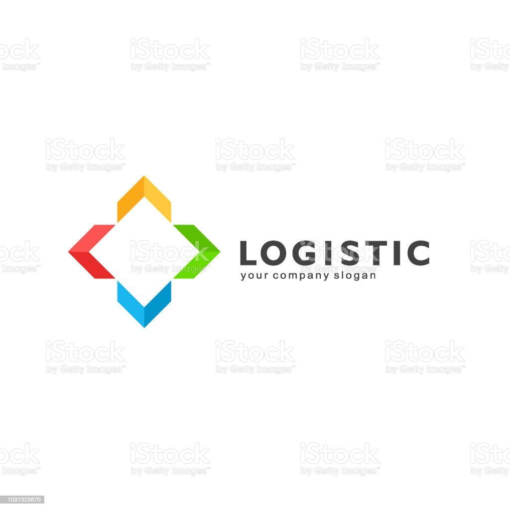 Vector design element for logistics and transport company. vector art illustration