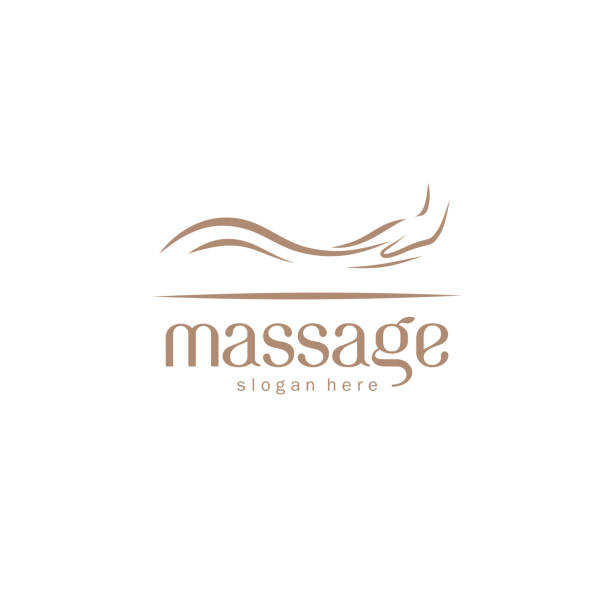 vector design element for massage salon - massage stock illustrations